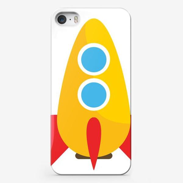 Чехол iPhone «Ракета мультяшная»