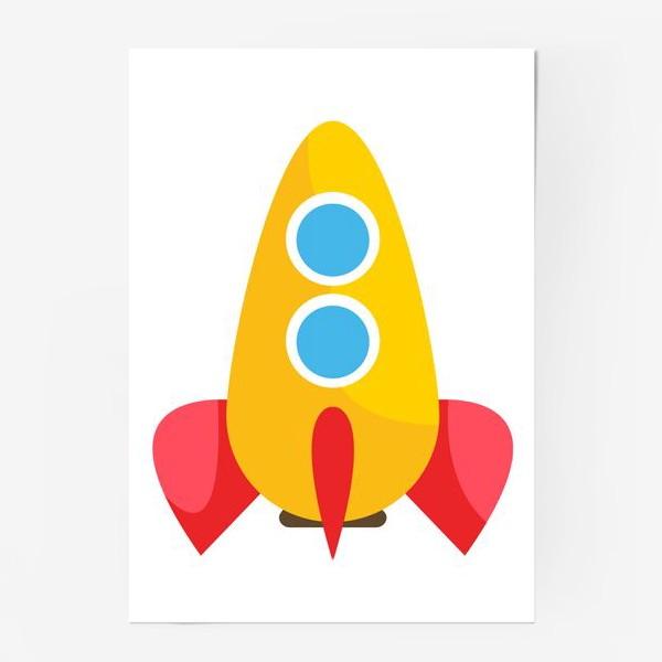 Постер «Ракета мультяшная»