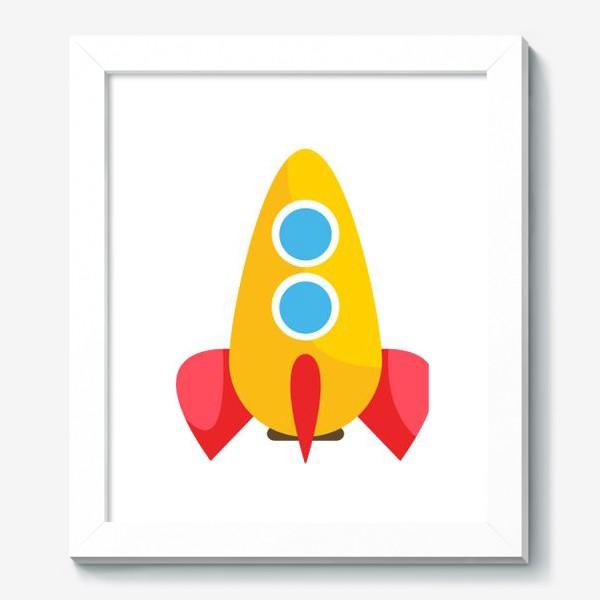 Картина «Ракета мультяшная»
