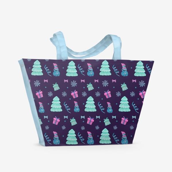 Пляжная сумка «Снеговички»
