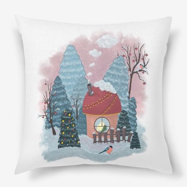 Подушка «Уютный лесной домик»