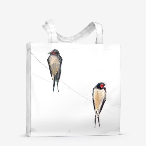 Сумка-шоппер «Хрупкие птицы»