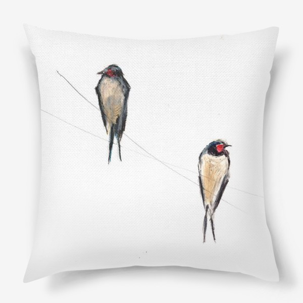 Подушка «Хрупкие птицы»