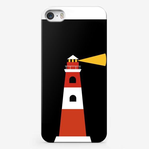Чехол iPhone «Маяк на черном фоне»