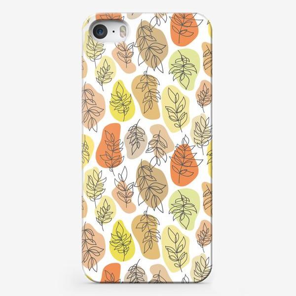 Чехол iPhone «Разноцветные листья. Осень.»