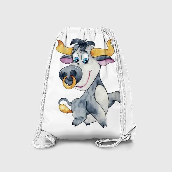 Рюкзак «Символ 2021 года. Акварель»