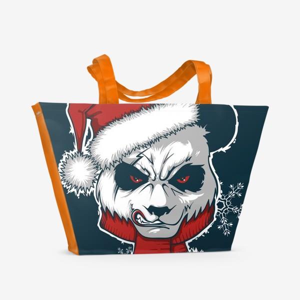 Пляжная сумка «Angry panda»