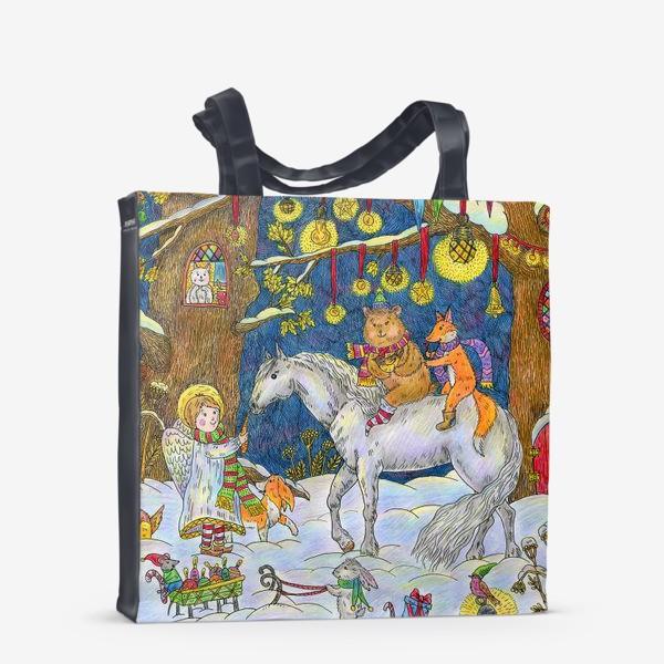 Сумка-шоппер «Рождество в сказочном лесу»