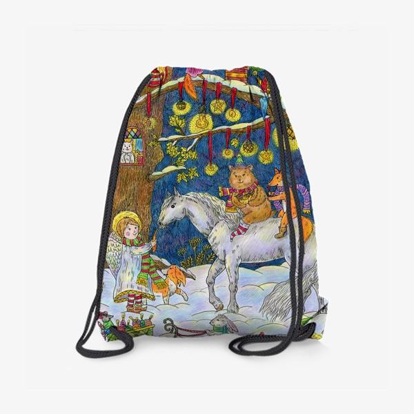 Рюкзак «Рождество в сказочном лесу»