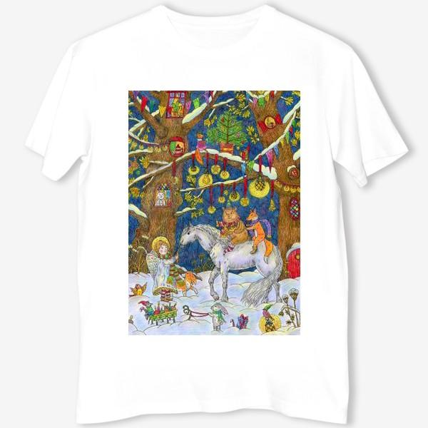 Футболка «Рождество в сказочном лесу»