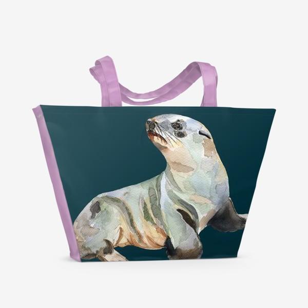 Пляжная сумка «Морской котик»