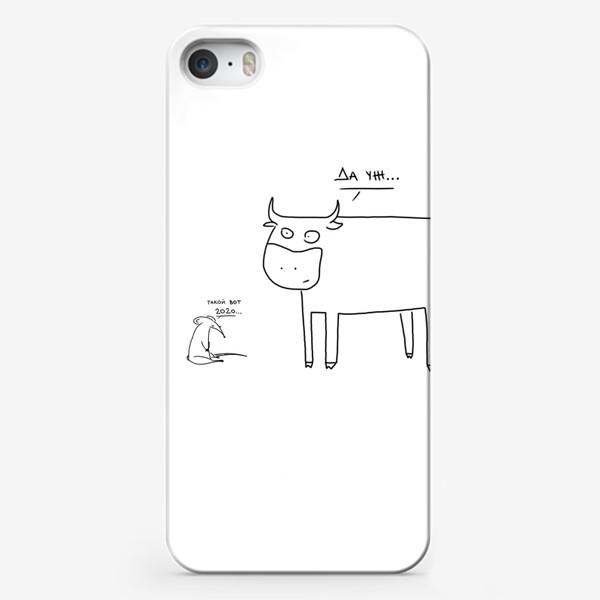 Чехол iPhone «Бык с крысой встретился. Новый год 2020-2021»