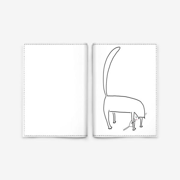 Обложка для паспорта «Котик за лапкой мамы. День матери. Для мамы »