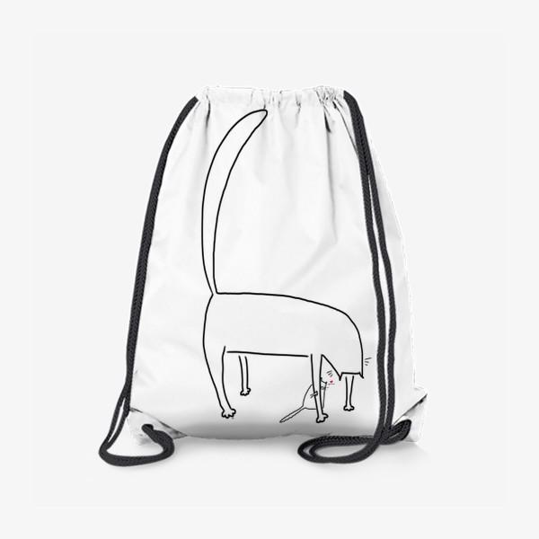 Рюкзак «Котик за лапкой мамы. День матери. Для мамы »