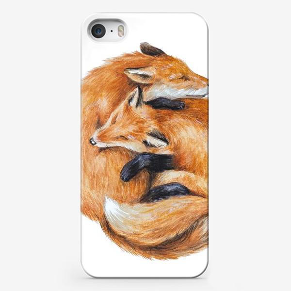 Чехол iPhone «Лисы»