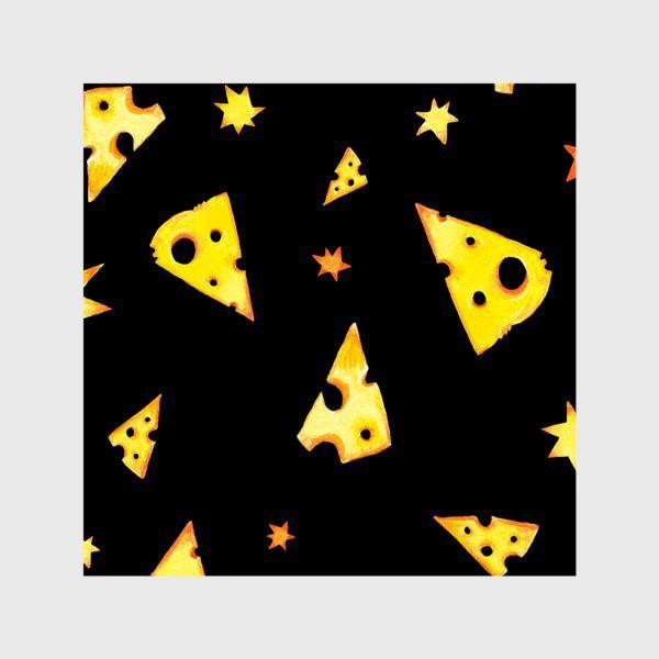 Шторы «Звездный сыр (черный)»