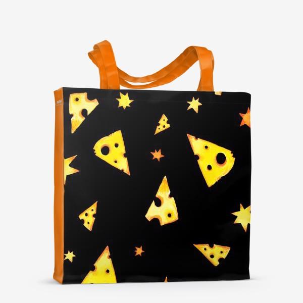 Сумка-шоппер «Звездный сыр (черный)»