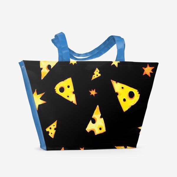 Пляжная сумка «Звездный сыр (черный)»