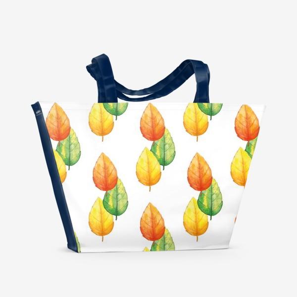 Пляжная сумка «Осенние листья»