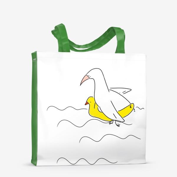 Сумка-шоппер «Птица в спасательном круге »