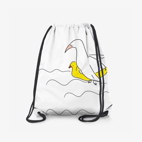Рюкзак «Птица в спасательном круге »