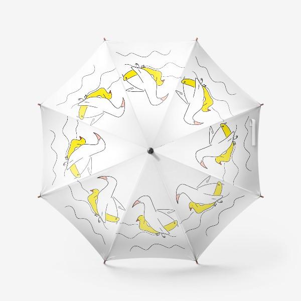 Зонт «Птица в спасательном круге »
