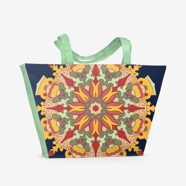 Пляжная сумка «Круговой орнамент в восточном стиле»