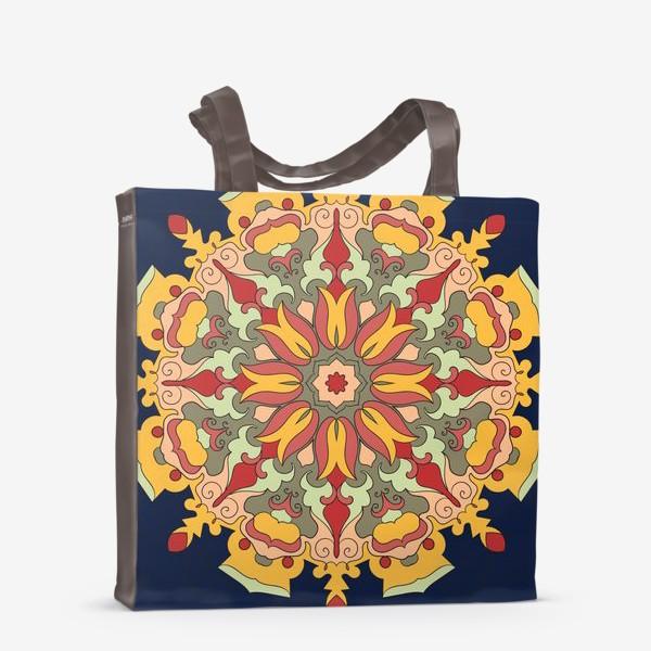 Сумка-шоппер «Круговой орнамент в восточном стиле»