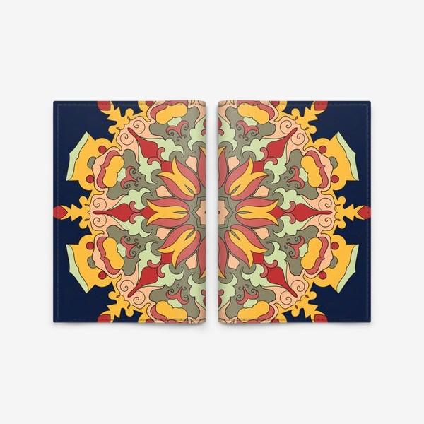 Обложка для паспорта «Круговой орнамент в восточном стиле»