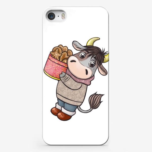Чехол iPhone «Бычок с печеньем. Символ 2021 года»