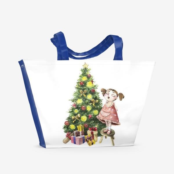 Пляжная сумка «Елка»