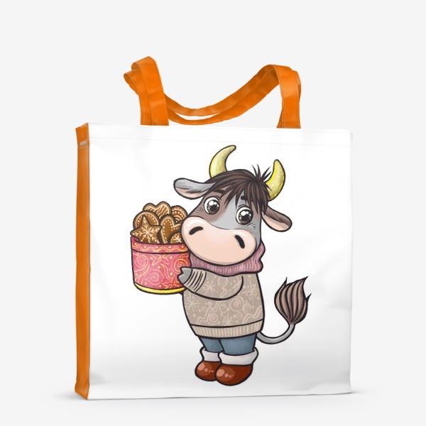 Сумка-шоппер «Бычок с печеньем. Символ 2021 года»