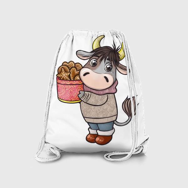 Рюкзак «Бычок с печеньем. Символ 2021 года»