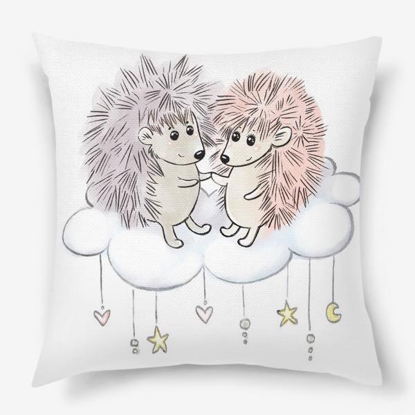 Подушка «Влюбленные ежики»