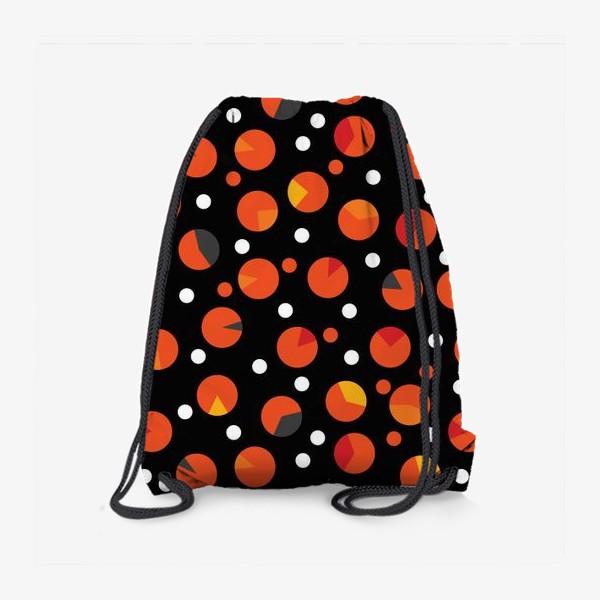 Рюкзак «Яркие цветные круги на черном фоне»