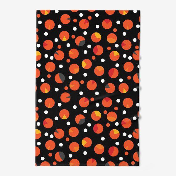 Полотенце «Яркие цветные круги на черном фоне»