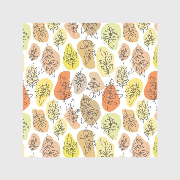 Скатерть «Разноцветные листья. Осень.»