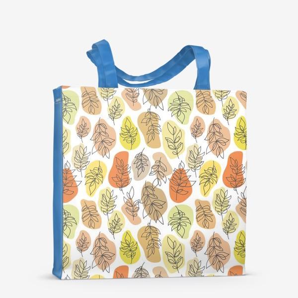 Сумка-шоппер «Разноцветные листья. Осень.»