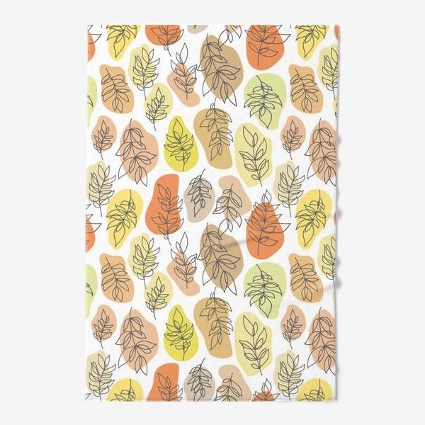 Полотенце «Разноцветные листья. Осень.»