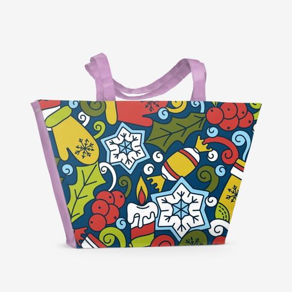 Пляжная сумка «Рождественский вечер»