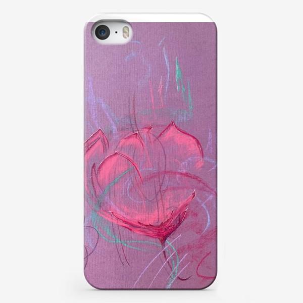Чехол iPhone «Девушка - цветок»