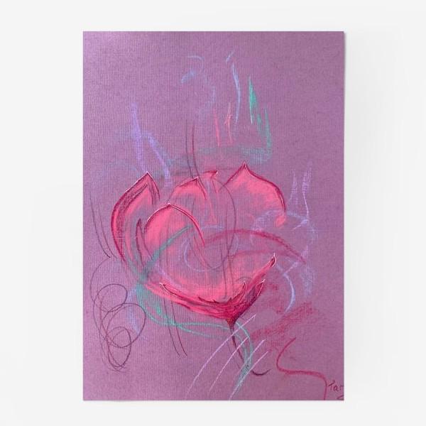 Постер «Девушка - цветок»
