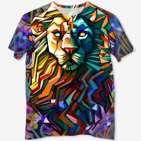 Футболка с полной запечаткой «знак зодиака лев»