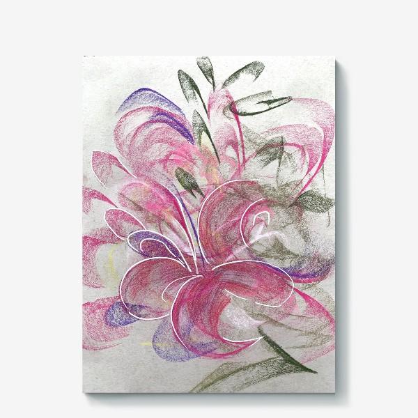 Холст «Цветок с Бали»