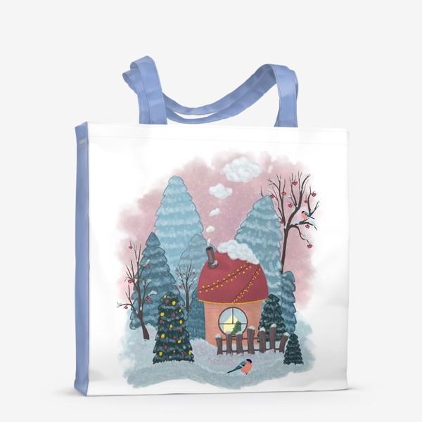 Сумка-шоппер «Уютный лесной домик»