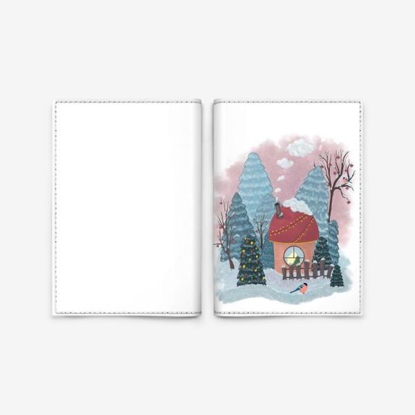 Обложка для паспорта «Уютный лесной домик»