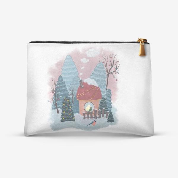 Косметичка «Уютный лесной домик»