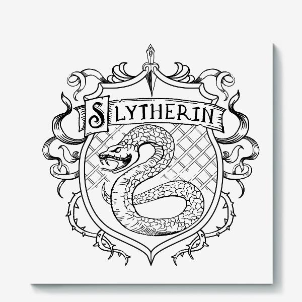 Холст «Герб факультета Слизерин. Гарри Поттер. Slytherin Crest. Harry Potter»