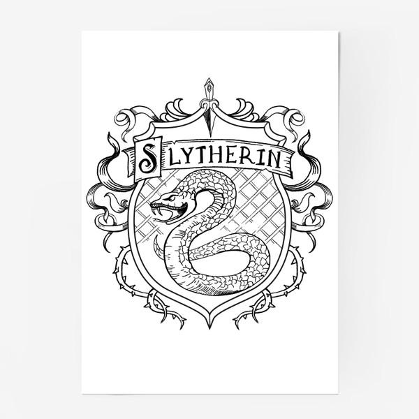 Постер «Герб факультета С. Змея.  S Crest»