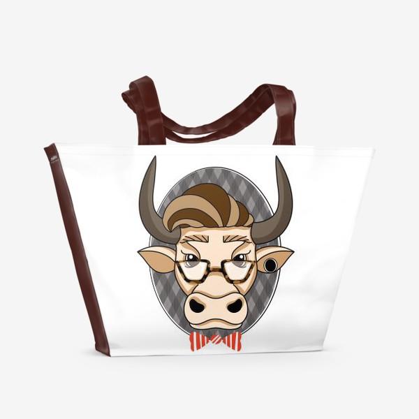 Пляжная сумка «Год быка. Без текста.»